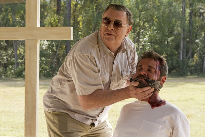 Gene Jones and AJ Bowen in THE SACRAMENT