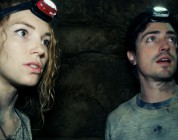 Scarlett (PERDITA WEEKS) and George (BEN FELDMAN) traverse miles of twisting catacombs beneath the streets of Paris in As Above/So Below.
