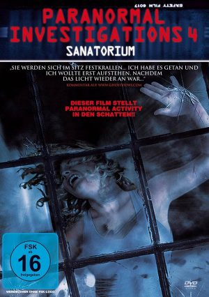 Paranormal Investigations 4 Sanatorium Found Footage Film DVD Poster
